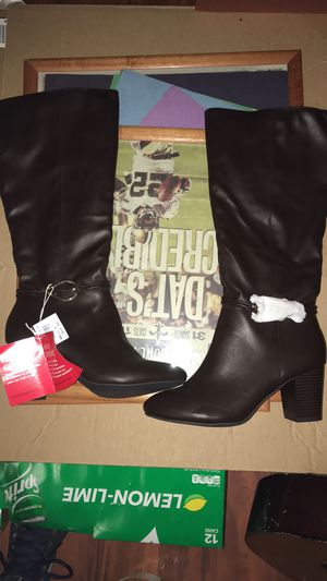 Leather Knee High Heel Boots for Sale in Metairie, LA