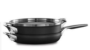 "Calphalon Premier Space-Saving Hard-Anodized Nonstick 3-Piece Cookware Set, 12"" Stack for Sale in Marysville, WA"