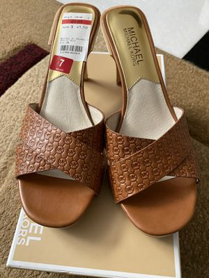 Michael Kors Sandal - Woman Size 7 Style # Amelie Luggage Mule Brand New Sandal for Sale in Corona, CA