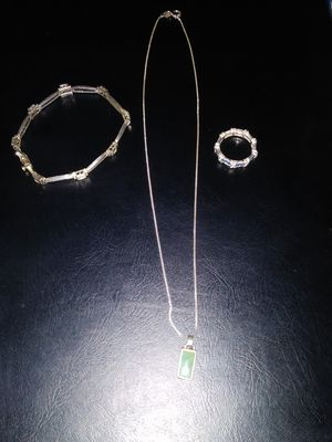 Necklace, ring and bracelet, (925) silver. for Sale in Turlock, CA