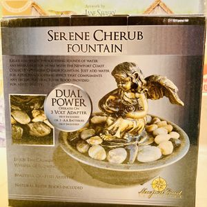 Newport Coast Serene Cherub Tabletop Water Fountain Relaxation Therapy for Sale in Allen, TX