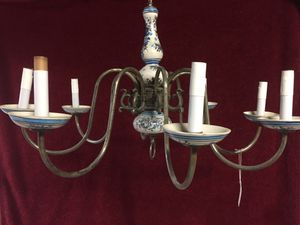 Chandelier porcelain and steel for Sale in Ontario, CA