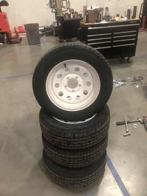 New Tires and Wheels never used Tires 185/65R14 5-4.5 Bolt Zero Offset for Sale in Lynnwood, WA