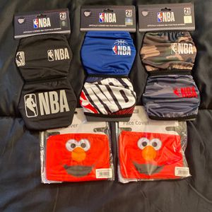 BRAND NEW (NBA AND ELMO) FACE MASKS for Sale in Washington, DC
