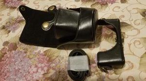 black Leather case bag + strap for Nikon 1 J4 camera for Sale in Centreville, VA