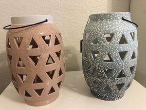 Pretty Ceramic Pierced Lanterns ( 50.00 for both) for Sale in Las Vegas, NV