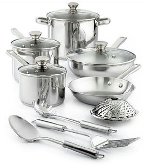 Brand New in Box 13-Pieces Macy's Stainless Steel Cookware for Sale in Monterey Park, CA