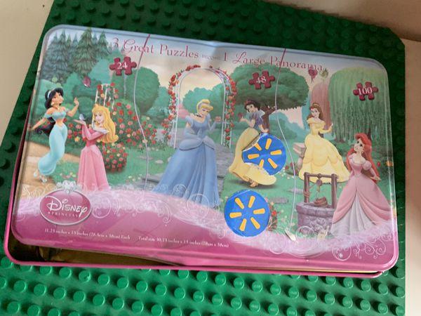 3 Disney princess puzzle toys