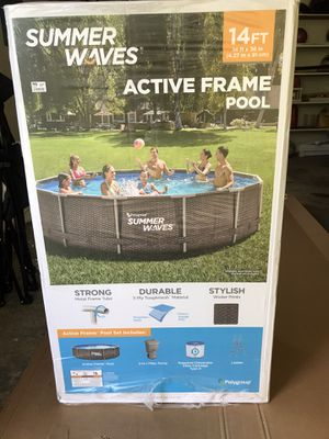 Brand New Summer waves 14ft Metal frame pool for Sale in Rutherford, NJ