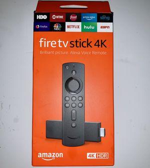 Amazon 4K Fire TV stick w/ Alexa Voice Remote BRAND NEW SEALED BOX for Sale in Newport Beach, CA