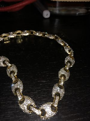 Gucci Link Gold Plated Chain cubic zirconia stones for Sale in Westerville, OH