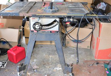 Vintage Sears Craftsman 10 inch 113 3HP Table Saw on Stand for Sale in Oregon City,  OR