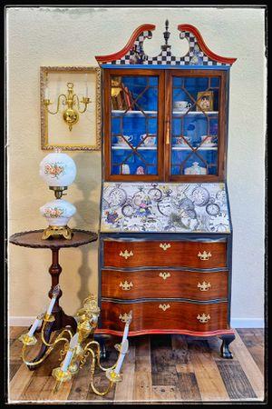 Antique secretary desk with bookcase / vintage dresser for Sale in Glendale, AZ