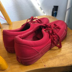 All red Vans shoes for Sale in Long Beach, CA
