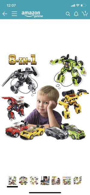 PANLOS STEM Robot Educational Learning Building Bricks Toy Model Cars Set Vehicles Gifts for Kids Boys and Girls Tight Fit and Compatible for Sale in Brooklyn, NY