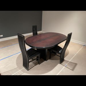 """DINING TABLE & 3 CHAIRS 72"""" x 42"""" + 19"""" CENTER PIECE EXTENSION for Sale in Buffalo Grove, IL"""