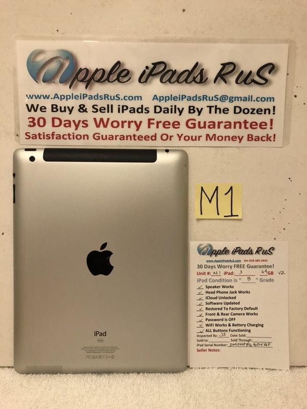 M1 - iPad 3 64GB Cell-VZ
