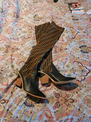 Fendi thigh high knit boots for Sale in Manor, TX