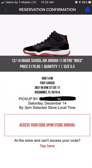 Bred 11's Sz.. 5.5 for Sale in Kissimmee, FL