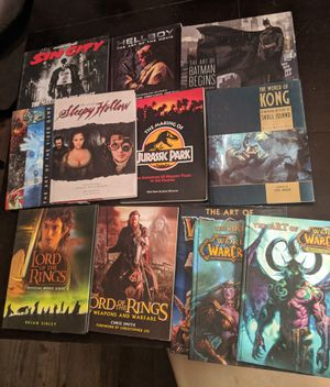 13 Movie Making Art Books, video game, Concepts, 3D maya for Sale in Las Vegas, NV