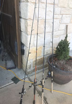Spin cast fishing poles for Sale in Katy, TX