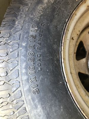 3 old rims and tires old Chevy truck vintage for Sale in Greensburg, PA