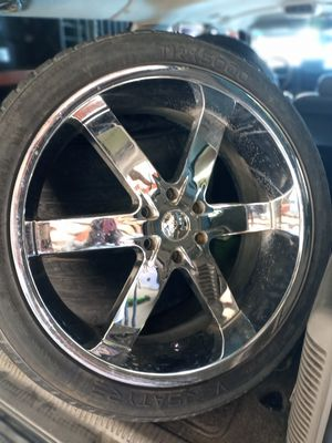 24inch rims and tires for Sale in Fort Worth, TX