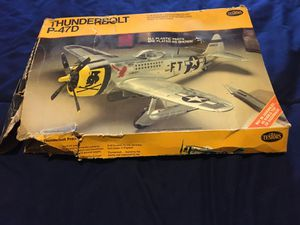 Used, Testors P-47D Thunderbolt selling as is for 15.00. Nice decals! 1/48 scale for Sale for sale  Tempe, AZ