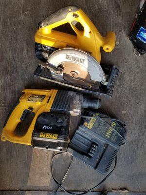 24v DeWal thammer drill and circular saw for Sale in Glenn Dale, MD