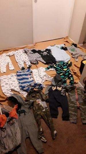 Large amount of baby boy clothes 0-3, 3-6, and 6-9 months! for Sale in Tacoma, WA