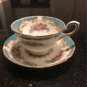 Demetesse Tea Cup And Saucer - Naples Blue C8267J 4 Tuscan for Sale in Auburn Hills, MI