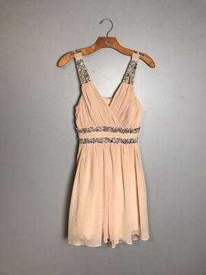 City Studio NEW Beige Size 3 Junior Embellished Chiffon Sheath Dress for Sale in French Creek, WV