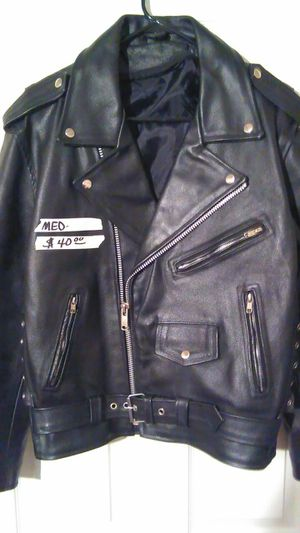 Heavy leather jacket good condition for Sale in Elsberry, MO