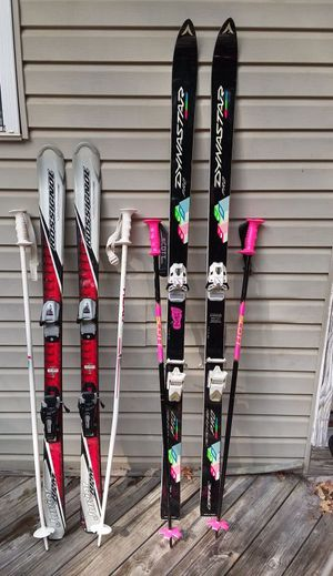 Skis with ski poles for Sale in Harpers Ferry, WV
