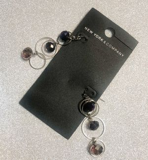New York & Co Purple/Silver Fashion Earrings for Sale in Forest Heights, MD