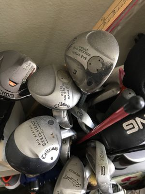 Assorted used golf clubs for beginner practice for Sale in San Diego, CA