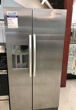 Stainless Kitchenaid refrigerator side by side for Sale in Denver, CO