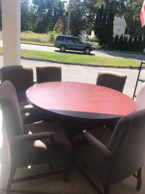 Conference table 60 inch with six chairs $175 for Sale in Cheshire, CT