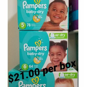 Pampers Baby dry Size 4 5 6 for Sale in Los Angeles, CA