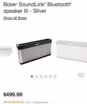 Bose Bluetooth Speaker for Sale in Mantua, OH