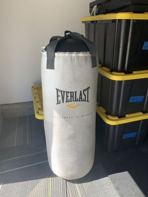 Everlast punching bag for Sale in Manteca, CA