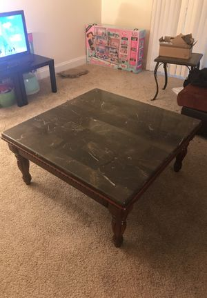 Real marble coffee table!! for Sale in Crofton, MD