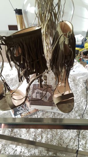 Olive Green Fringe heels for Sale in St. Louis, MO