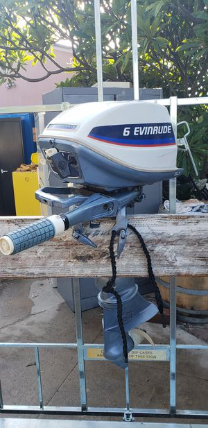 Evinrude outboard motor 6 horsepower for Sale in Fullerton, CA