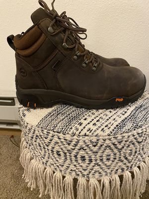 New men size 9 timberland pro comp toe/waterproof work boot for Sale in Tacoma, WA