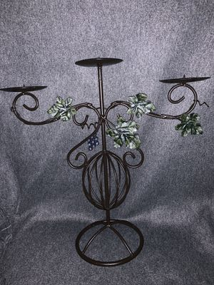 "Large 3-tier metal candle holder 15"" tall for Sale in NO POTOMAC, MD"