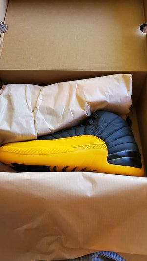 Jordan Retro 12 Black University Gold for Sale in Vista, CA