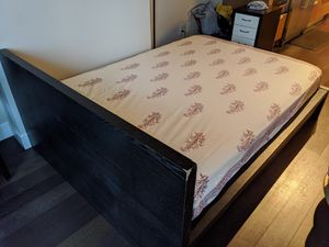 Easy to assemble IKEA bed frame with mattress $ 100 for Sale in Seattle, WA