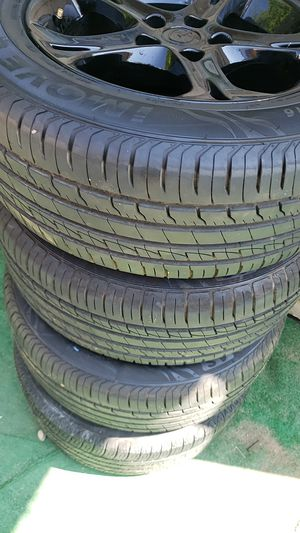 mazda oem rims painted black and tires for Sale in Pomona, CA