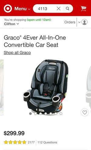 BRAND NEW!!!! UNOPENED BOX!!!! GRACO 4 EVER ALL- IN-ONE CONVERTIBLE CAR SEAT. for Sale in West Covina, CA